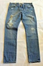 Abercrombie & Fitch Women Erin Destroyed Straight Denim Jeans NwT 26 2