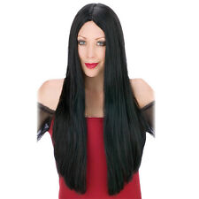 Fashion 60cm Black Long Straight Hair Wig Full Wig for Women Men Cosplay Party