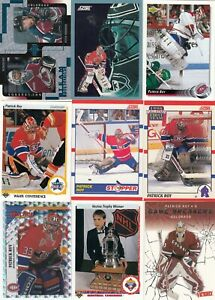 PATRICK ROY a lot of 9 DIFFERENTS CARDS INSERTS near mint   LOT 4        a