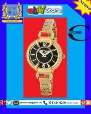 JUST CAVALLI Orologio Donna BRACCIALE ORO CRISTALLI FASHION LUXURY GLAM WATCH