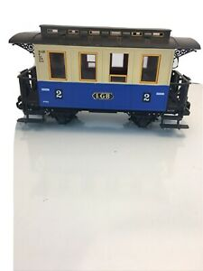 LGB 3012 Second (2nd) Class Blue Passenger Coach Car *G-Scale* (1 of 2)
