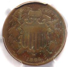"""1864 """"Small Motto"""" Two Cent Coin 2C - PCGS VG Details - Rare Small Variety!"""