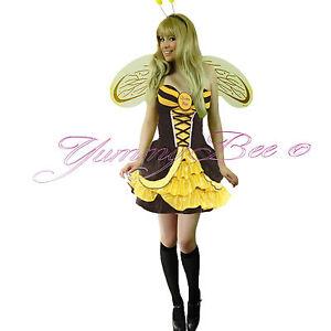Bumble Bee Costume Women Queen Plus Size 6-20 Halloween SOCKS Book Day Adult UK