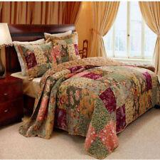 3-Piece Multi King Quilt Set Durable 100% Cotton Patchwork Construction