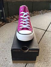 CONVERSE CT All Stars Pink Sapphire Magenta Hi Top Trainers   Women's UK 4