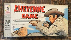 Vintage Cheyenne Board Game Milton Bradley 1958 Clint Walker Western