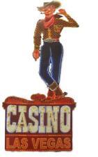 """Blechschild  """"Casino Las Vegas"""" Cowboy Vic Fremont Street Diner Bar 80cm NEU"""