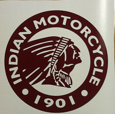 "Indian Motorcycle, Large Round Dark Red Logo, Vinyl Decal Sticker - 12"" Diameter"