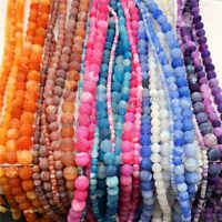 Natural Gemstone Weathered Agate Crack Round Loose Spacer Beads  4 6 8 10 12MM