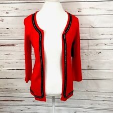 rafaella women's cardigan buttonless red size S NWT $58