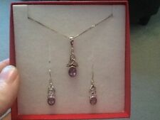 Gemstone Amethyst Costume Jewellery Sets