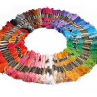 Lot 100 Multi-Colors Cross Stitch Cotton Embroidery Thread Floss Sewing/Skeins