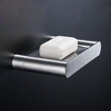 Bathroom Bath Hand Soap Dish Holder Wall Hanger Stainless Steel Brushed Nickel