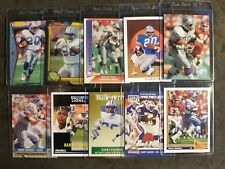 Barry Sanders Detroit Lions NFL lot (10) Football Cards Free Shipping!