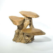 Coffee Root Wooden 3 Leaf Stand Side Table Natural Fair Trade Indoor Outdoor 30