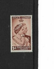 1948 TURKS & CAICOS - GVI Silver Wedding - Mint and Very Lightly Hinged.