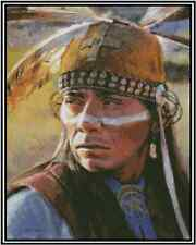 Native American Indian Portrait Counted Cross Stitch Complete Kit  #21-124
