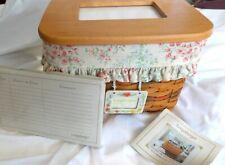 Longaberger 2002 Mothers Day Memories basket set lid liner protector & dividers