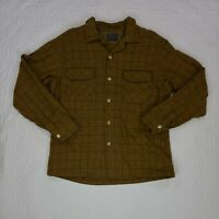 Pendleton Mens Yellow Wool Plaid Shirt Size L