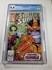 SILVER SURFER #V3 #44 CGC 9.4 1ST INFINITY GAUNTLET WHITE PAGES 1990 KEY BOOK
