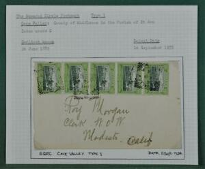 JAMAICA  COVER  1924 CAVE VALLEY CANCEL   (A61)