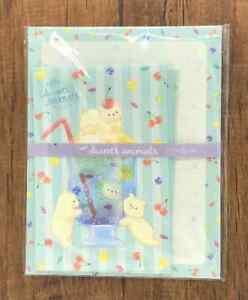 Letter Sheet Envelope White Bear Soda  Sweets Animals Set Stationery Japanese