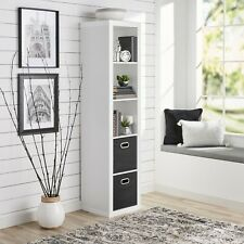 5-Cube Storage Organizer, White Tall Sleek