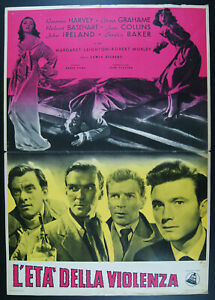 soggettone film THE GOOD DIE YOUNG Laurence Harvey Joan Collins Richard Basehart