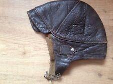 ancien casque moto en cuir souple
