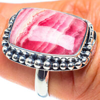 Rhodochrosite 925 Sterling Silver Ring Size 7.5 Ana Co Jewelry R58827F