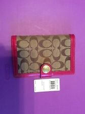 Authentic COACH Pink Leather Planner/Organizer/Checkbook/Agenda with Pen