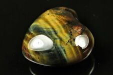 Quality Natural Golden Yellow Tiger Eye Puffy Heart Cab - 26mm x 27mm - 5595A