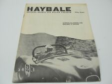 1962 HABALE LIME ROCK GORDON MACKENZIE JAGUAR SCCA SPORTS CAR RACING PROGRAM
