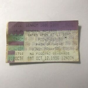 Pointfest Vinoy Park Matchbox Twenty Isaak Concert Ticket Stub Vintage Oct 1996