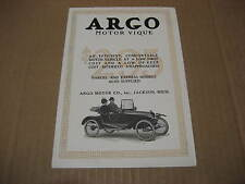 1915 Argo Motor Company Advertising Foldout Brochure
