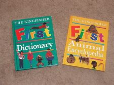 Lot of 2 First Animal Encyclopedia & First Dictionary By The Kingfisher