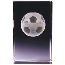"Classico ""Fußbal"" 3D Würfel 680800 Glas Transparent 8x5 x5cm Geschenk Box(10-14)"