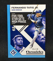 #/10! 🚨2019 Panini Chronicles Five-Tool Fernando Tatis JR RC #6 Padres Rookie