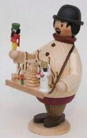 Happy Christmas Market Vendor German Incense Smoker Made in Erzgebirge Germany