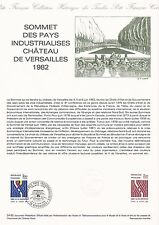 Document Philatélique Timbre 1er Jour : 4-5-6/06/ 1982 - Sommet des Pays