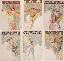 2019 Set of 6 Art Nouveau Style Fairy Nymph Elf Girls Russian pocket calendar