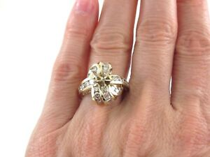 14k Yellow Gold Semi Mount Diamond Engagement Ring Size 6 3/4  1.20 carats