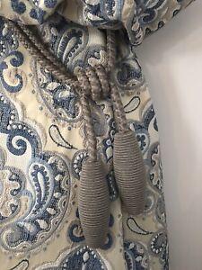 2 Curtain Holdbacks Rope Tie Backs