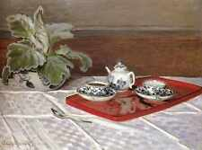 Metal Sign Monet Claude The Tea Set A4 12x8 Aluminium