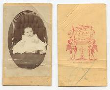CDV STUDIO PORTRAIT - CUTE LITTLE BABY FROM LONDON, ONTARIO
