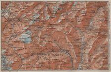 PASSO del SEMPIONE & VAL Antigorio. Limes VAL DIVEDRO CRODO Agaro TOPO-MAP 1909