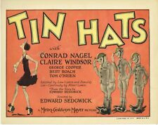 Tin Hats, original 1926 Title Lobby Card, rare John Held, Jr. illustrator design