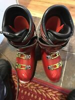 Salomon My Custom Fit Red Ski Boots Mens Size 12 Pre Owned