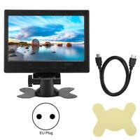 "7"" LED TFT LCD Display Monitor 1024x600 800:1 1080P HDMI VGA AV for Raspberry Pi"