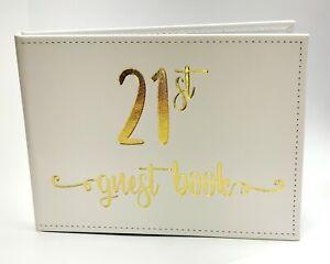 21st Birthday Guest Book Signing Signature Memories Keepsake Book Birthday Gift